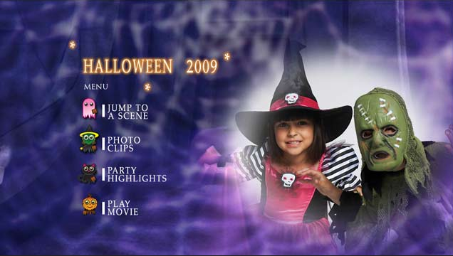 Motion Menu for Halloween Theme DVD